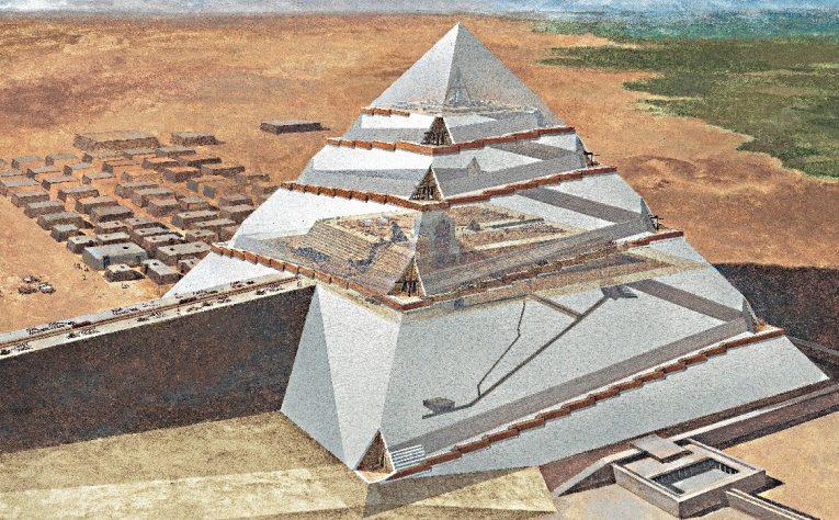 Nuove ipotesi sulla tecnica di costruzione delle piramidi for Piano di costruzione dell edificio